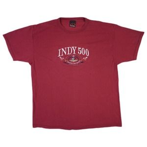 Vintage 90s Indy 500 Embroidered Racing Shirt